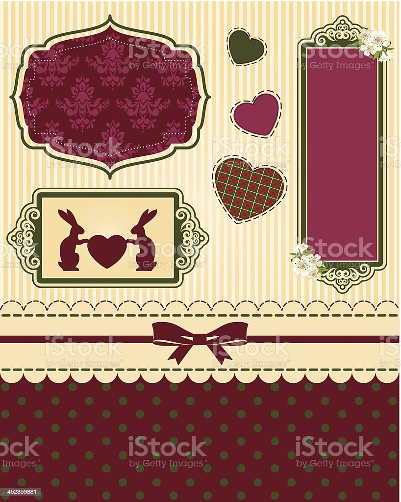 Beautiful Easter card. Vector royalty-free stock vector art