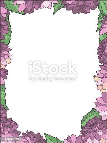 Transparent photo or card frame border drawing