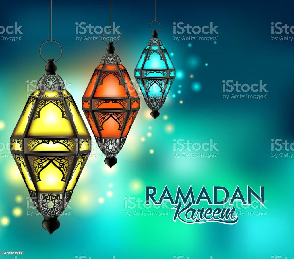 Beautiful Elegant Ramadan Kareem Lantern or Fanous