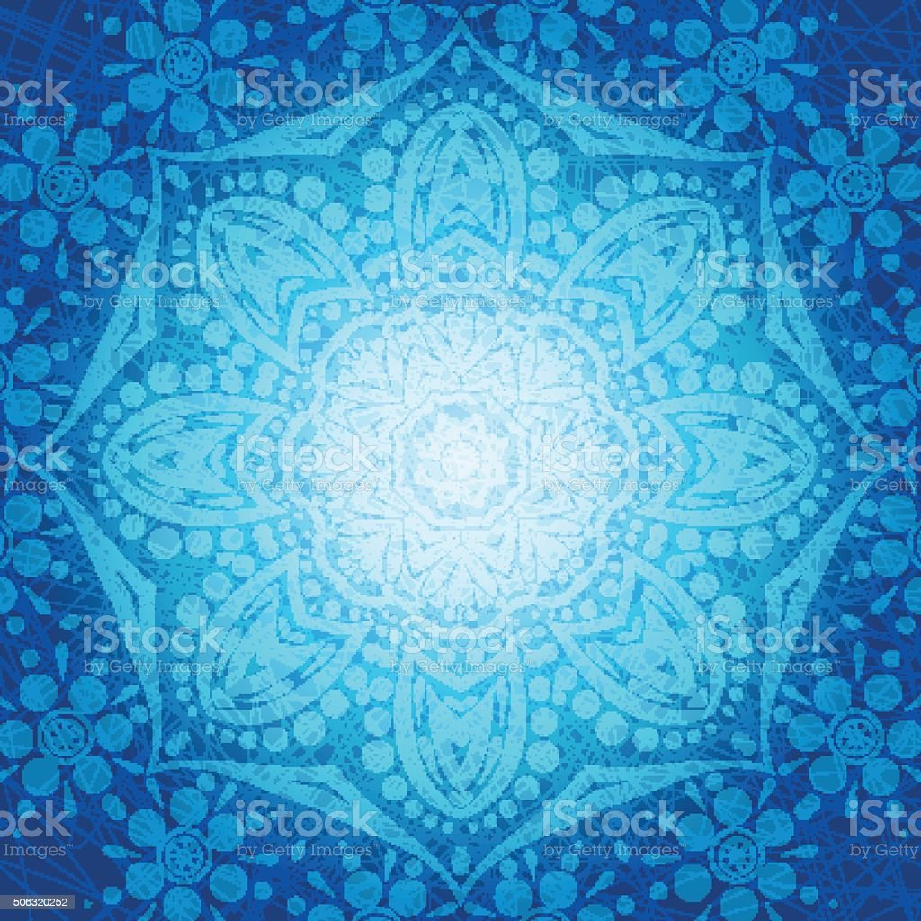 Beautiful ethnic, oriental background for greeting cards, labels. Mandala. vector art illustration