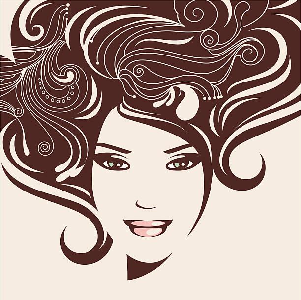 Piękna twarz. – artystyczna grafika wektorowa