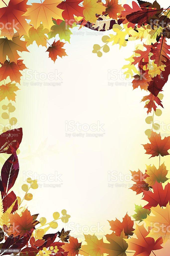 Beautiful Fall Background. vector art illustration