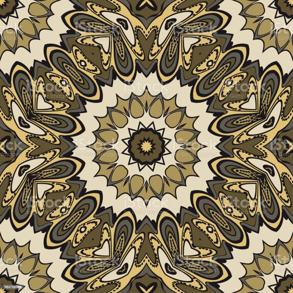 Beautiful fantasy flower ornament. seamless art-deco pattern. vector illustration. for design, wallpaper, invitation. royalty-free beautiful fantasy flower ornament seamless artdeco pattern vector illustration for design wallpaper invitation stock vector art & more images of abstract