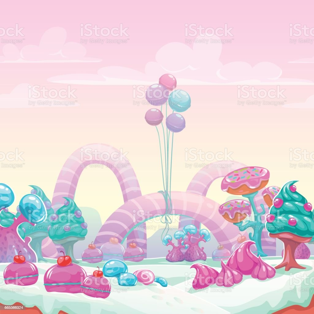 beautiful fantasy sweet world background stock vector art & more