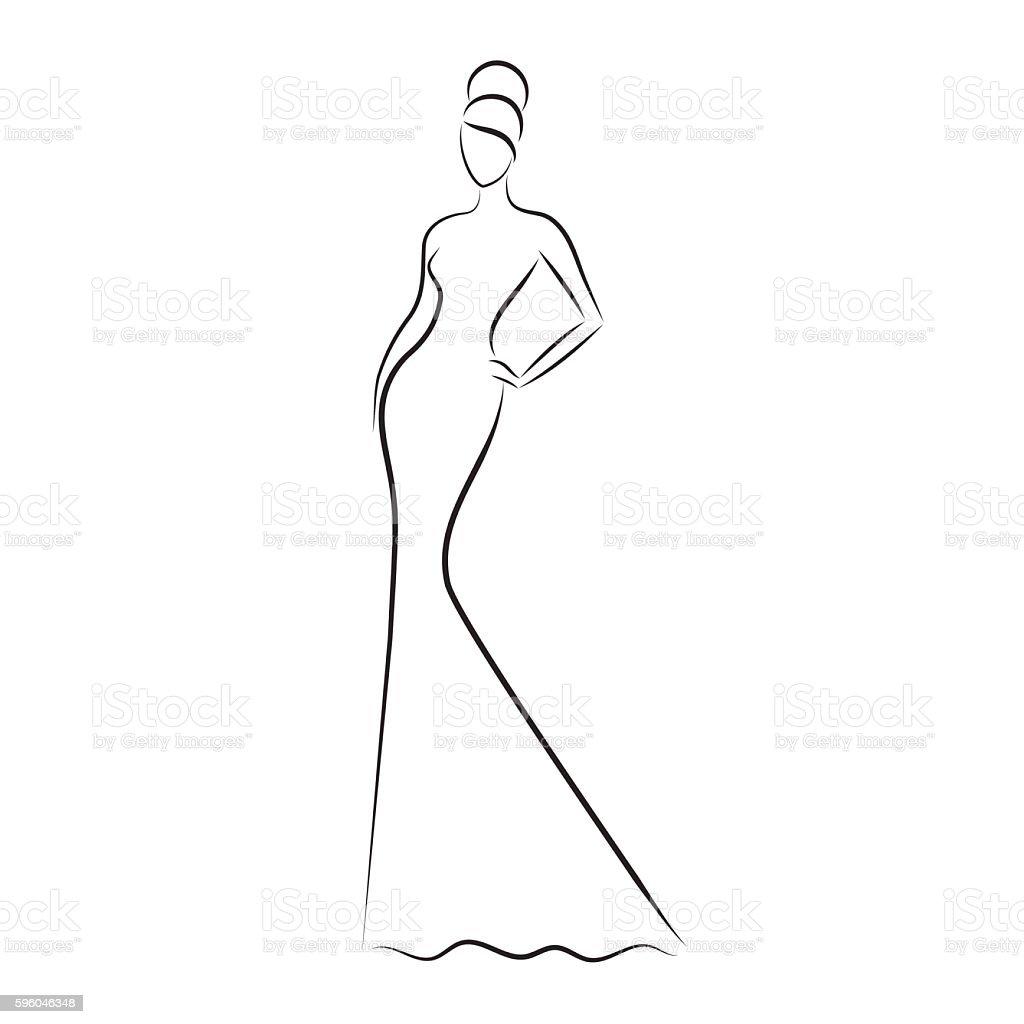 Beautiful fashion model posing  vector illustration. royalty-free beautiful fashion model posing vector illustration stock vector art & more images of adult