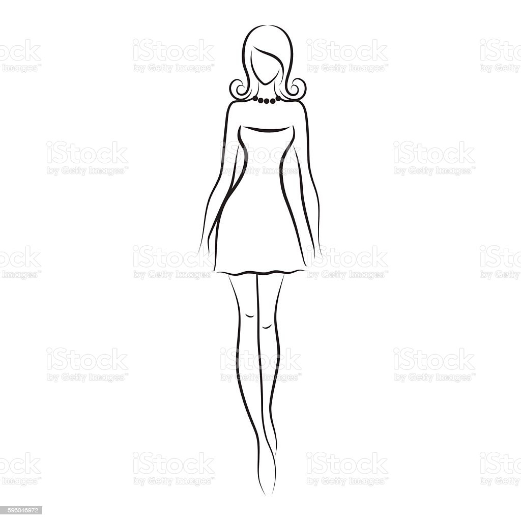 Beautiful fashion model  vector illustration. royalty-free beautiful fashion model vector illustration stock vector art & more images of adult