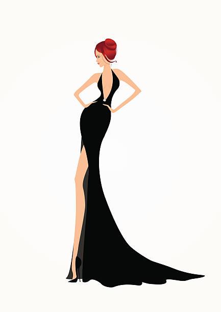 Beautiful Fashion Woman Vector Art Illustration