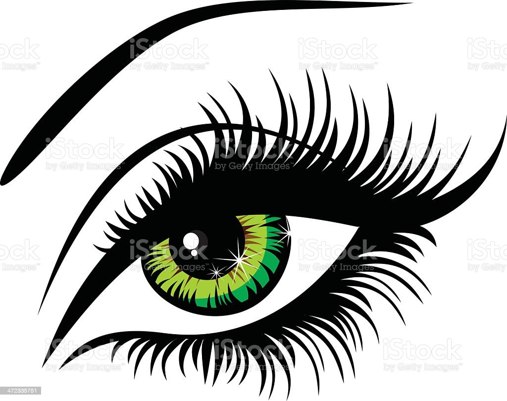 Beautiful female green eyes royalty-free stock vector art