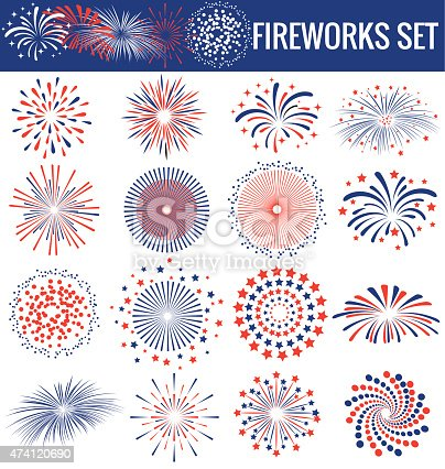 istock Beautiful Fireworks for Independence Day USA 474120690