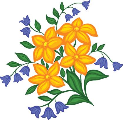 Красивые Цветы Рука Рисунок На Белом Фоне — стоковая векторная графика и  другие изображения на тему Ароматический - iStock