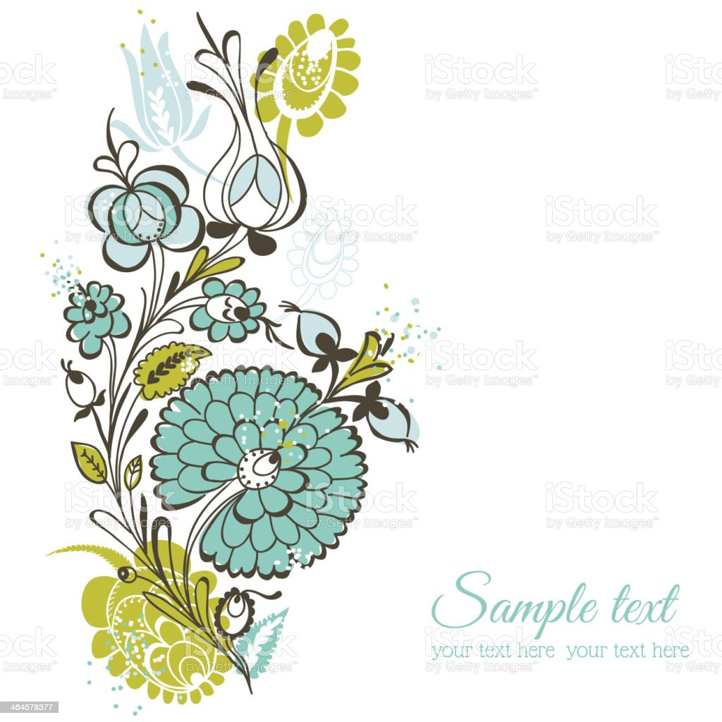 beautiful floral background retro flowers stock vector art & more