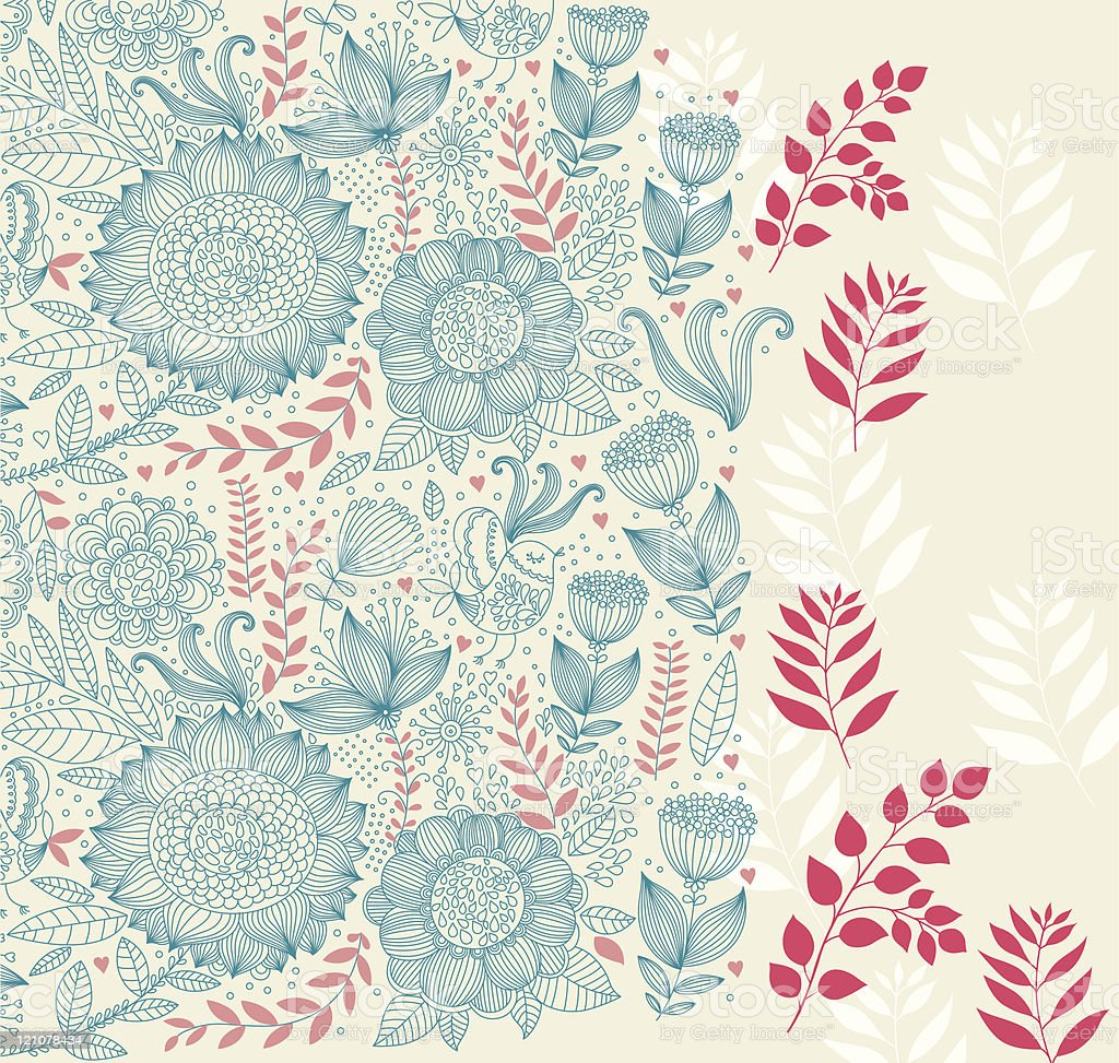 beautiful floral background stock vector art & more images of