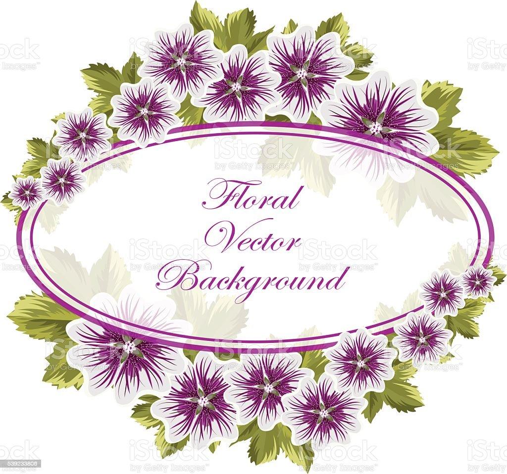 Hermoso fondo con flores malvas ilustración de hermoso fondo con flores malvas y más banco de imágenes de amor libre de derechos