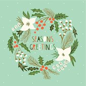 Beautiful floral Christmas wreath