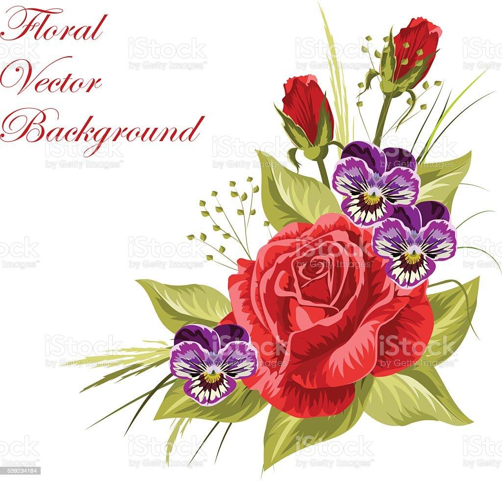 Lindo floral composição Isolado no branco. ilustração de lindo floral composição isolado no branco e mais banco de imagens de abstrato royalty-free
