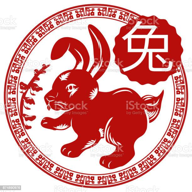 Beautiful floral design of chinese button with zodiac animal rabbit vector id874890976?b=1&k=6&m=874890976&s=612x612&h=fjsspq2vc9d5nxov9docz5oih5ijcemszitqt bgwps=