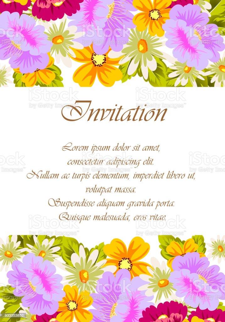Hermoso Marco Floral Para Tus Diseños Tarjetas De Felicitación ...