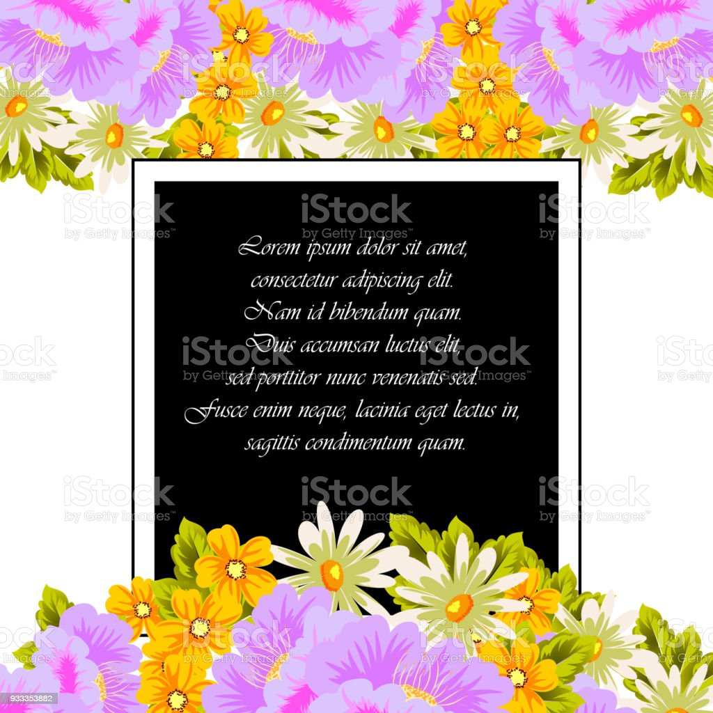 Beautiful Floral Frame For Your Designs Greeting Cards Invitations