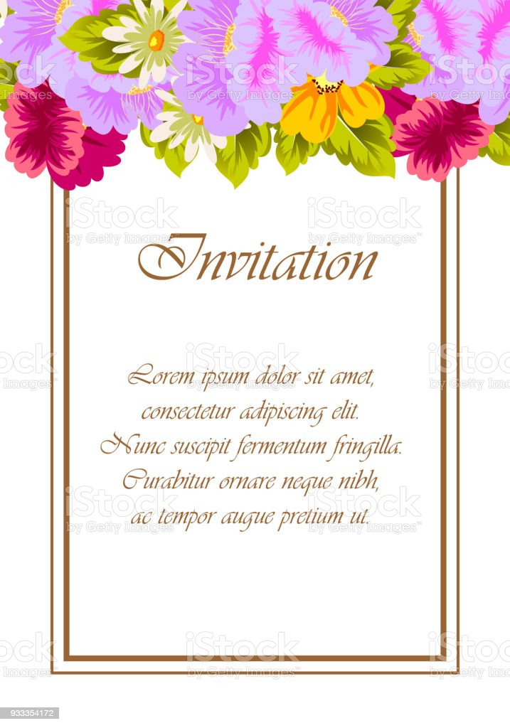 Beautiful floral frame for your designs greeting cards invitations beautiful floral frame for your designs greeting cards invitations for wedding birthday m4hsunfo