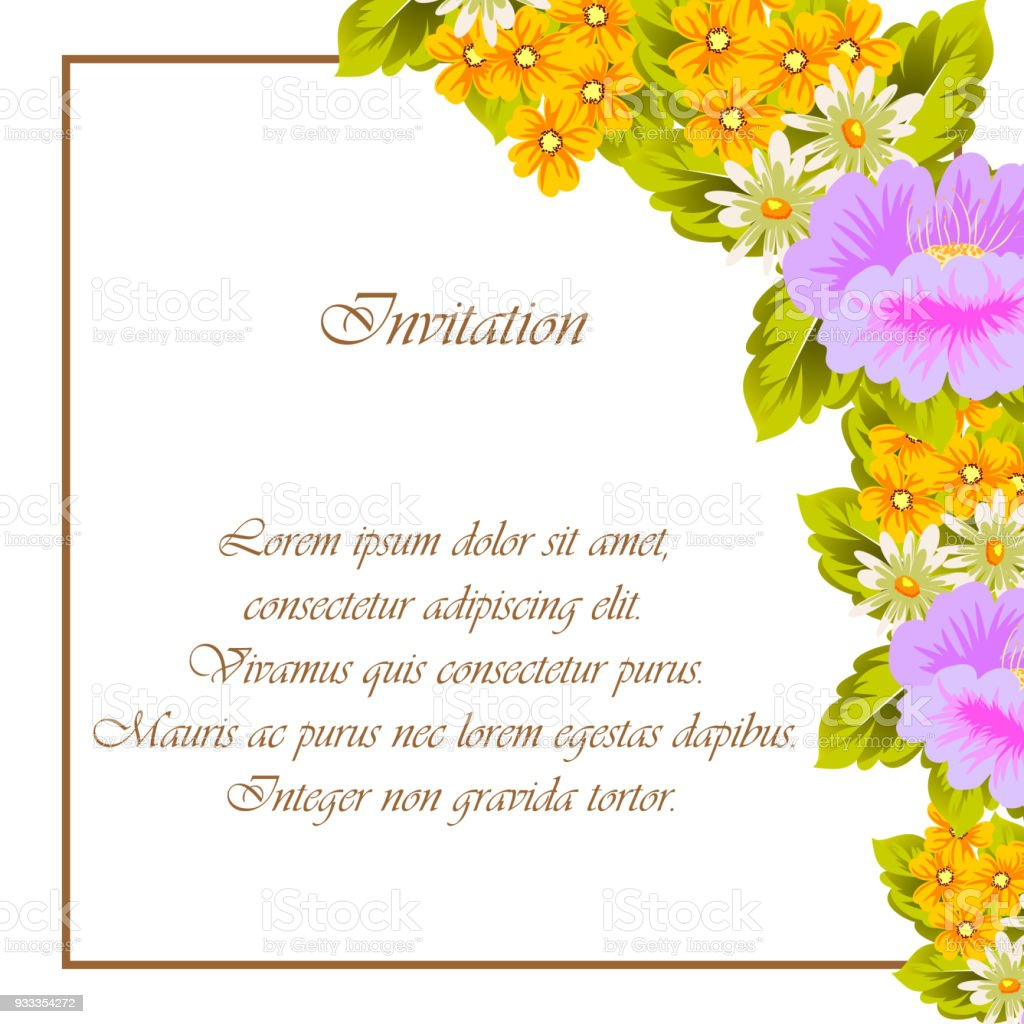 Beautiful floral frame for your designs greeting cards invitations beautiful floral frame for your designs greeting cards invitations for wedding birthday izmirmasajfo