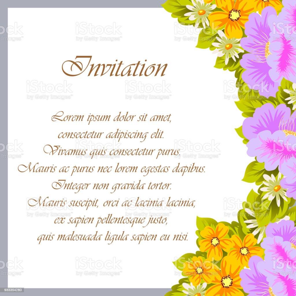 Ilustración De Hermoso Marco Floral Para Tus Diseños
