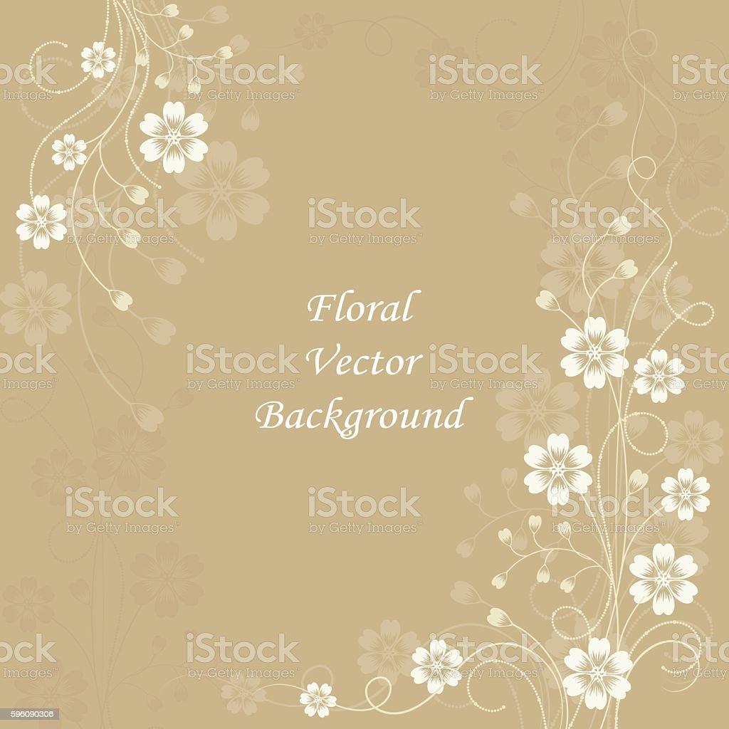 Beautiful floral pattern on brown background Lizenzfreies beautiful floral pattern on brown background stock vektor art und mehr bilder von abstrakt