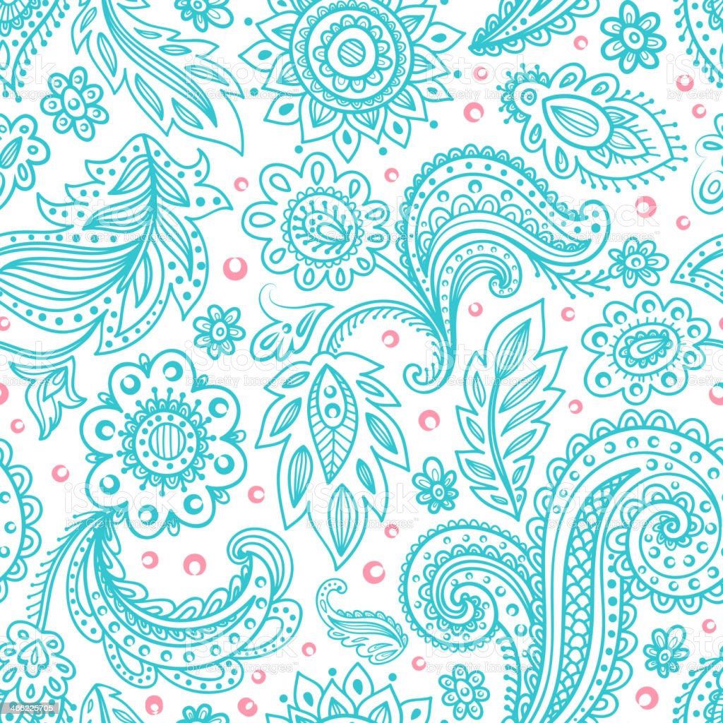 Beautiful floral seamless vector art illustration