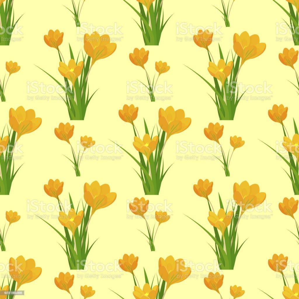 Beautiful Flower Tulip Seamless Pattern Background Design