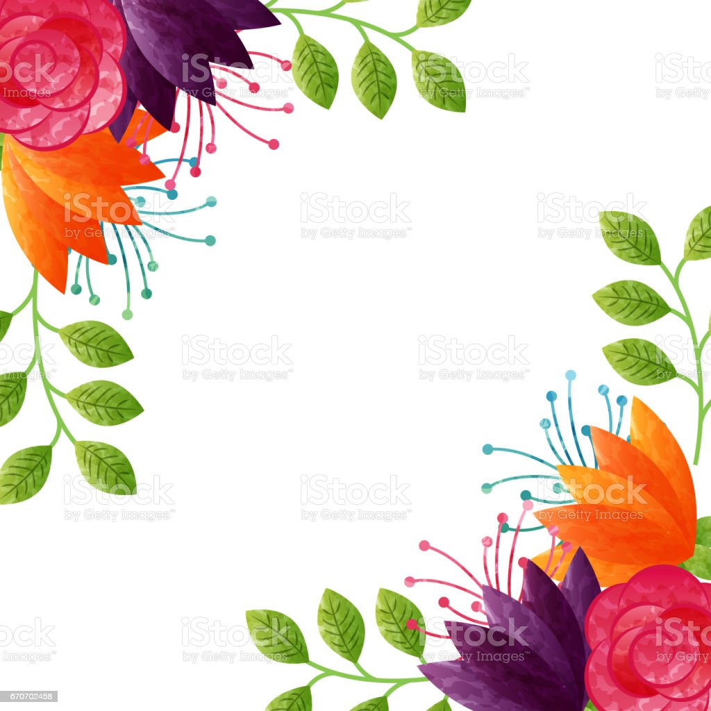 Beautiful Flowers Design Stock Vector Art More Images Of Beauty