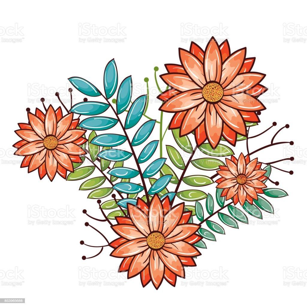 Vetores De Desenho De Lindas Flores E Mais Imagens De Arranjo Istock