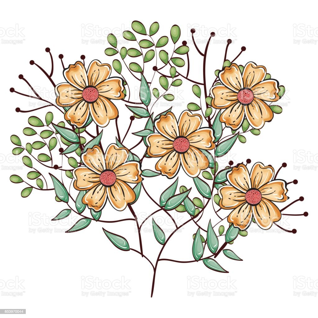 Beautiful Flowers Design Stock Vector Art More Images Of