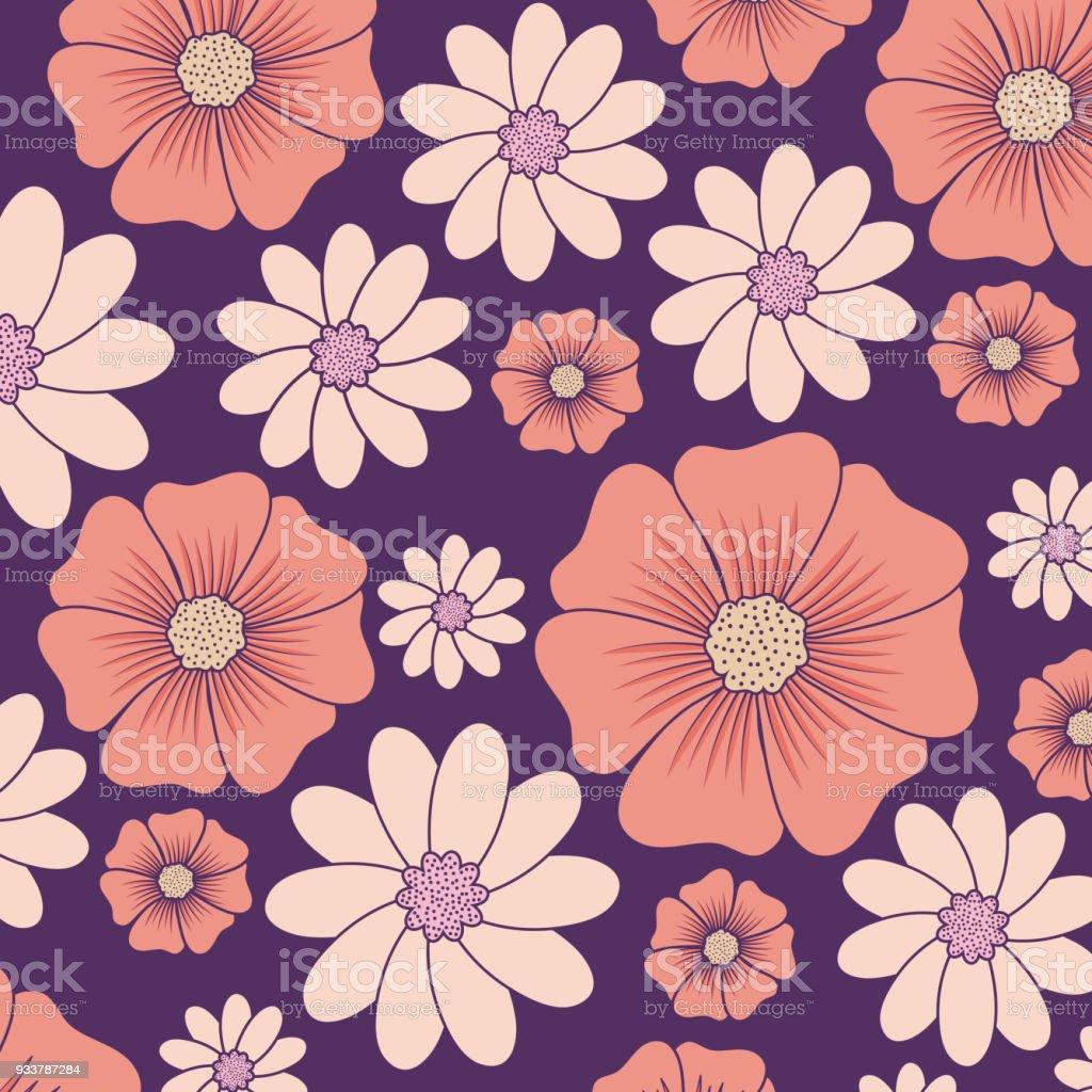 Vetores De Desenho De Lindas Flores E Mais Imagens De Beleza