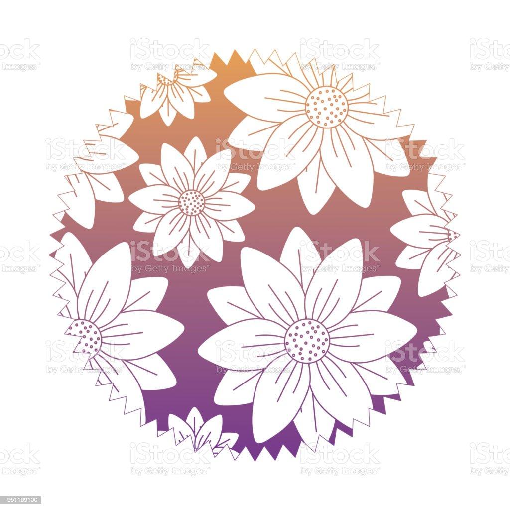 Beautiful Flowers Design Stock Vector Art More Images Of Art