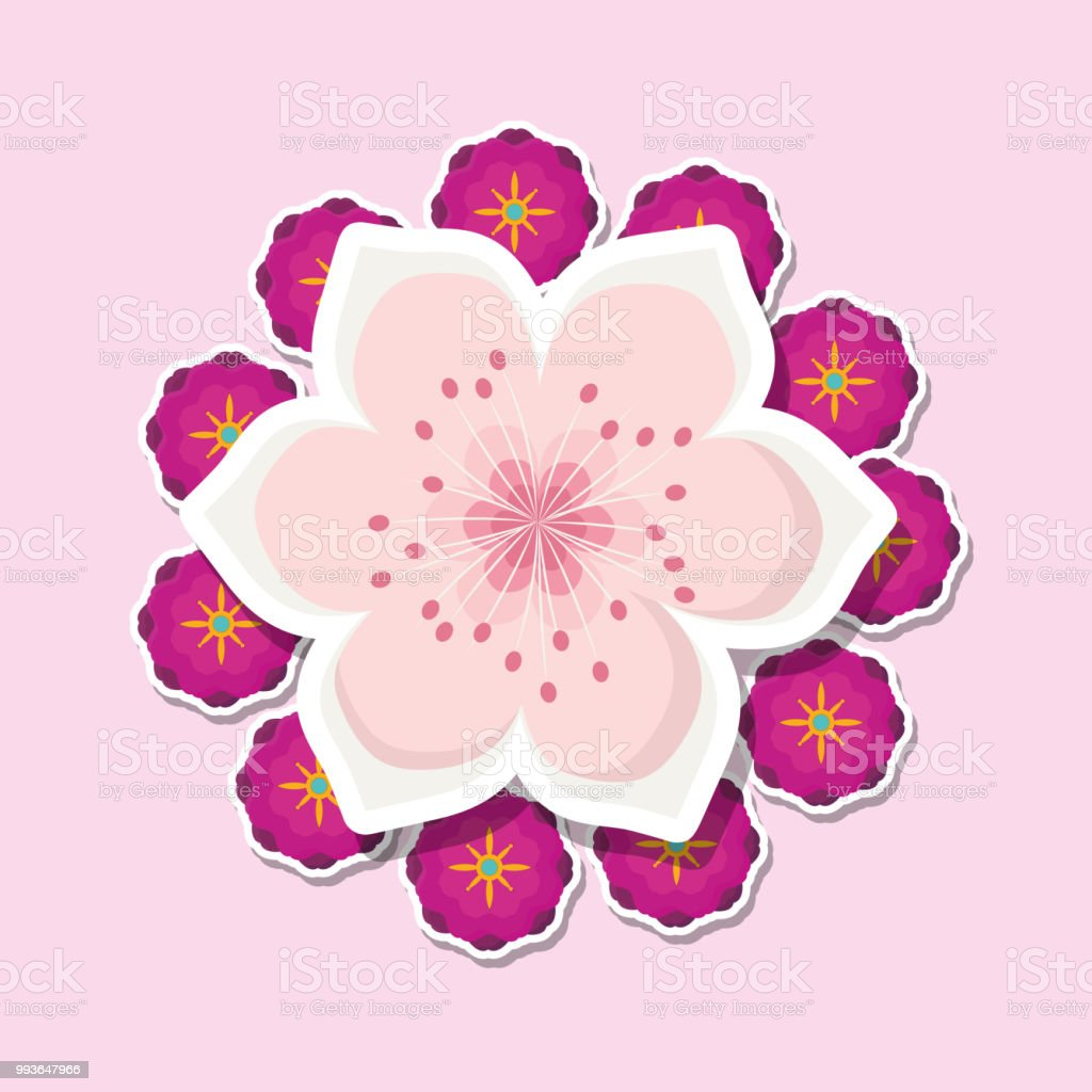Beautiful Flowers Design Stock Vector Art More Images Of Abstract