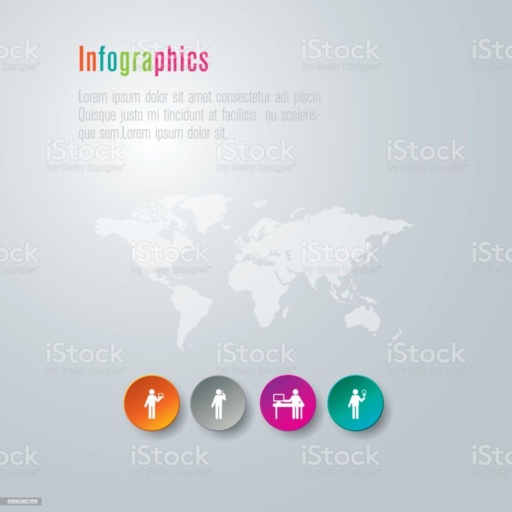 Beautiful four elements infographic with world map vector file stock beautiful four elements infographic with world map vector file royalty free beautiful four elements infographic gumiabroncs Choice Image