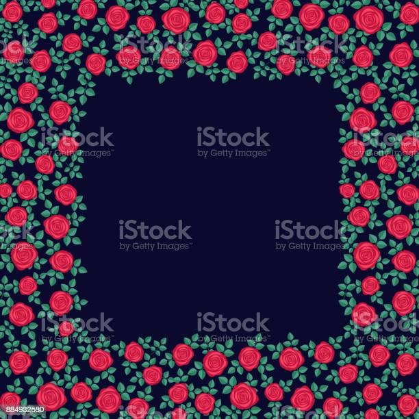 Beautiful frame of red roses on dark blue background template for vector id884932580?b=1&k=6&m=884932580&s=612x612&h=v2emlgwskysz y p6qfmgwtnijcudbl ziwvigfyhfg=