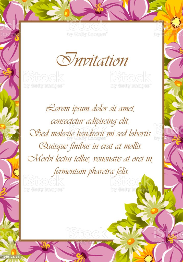 Beautiful Frames For Your Text From The Flowers For Design Postcards ...