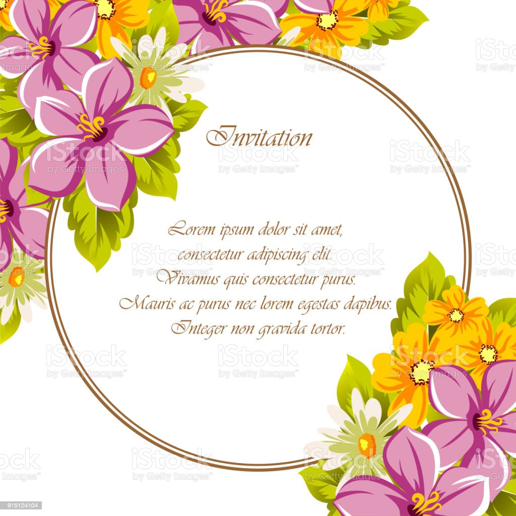 Beautiful frames for your text from the flowers for design postcards beautiful frames for your text from the flowers for design postcards greeting invitation izmirmasajfo