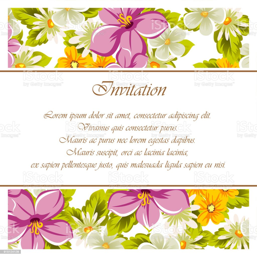 Beautiful Frames For Your Text From The Flowers For Design Postcards