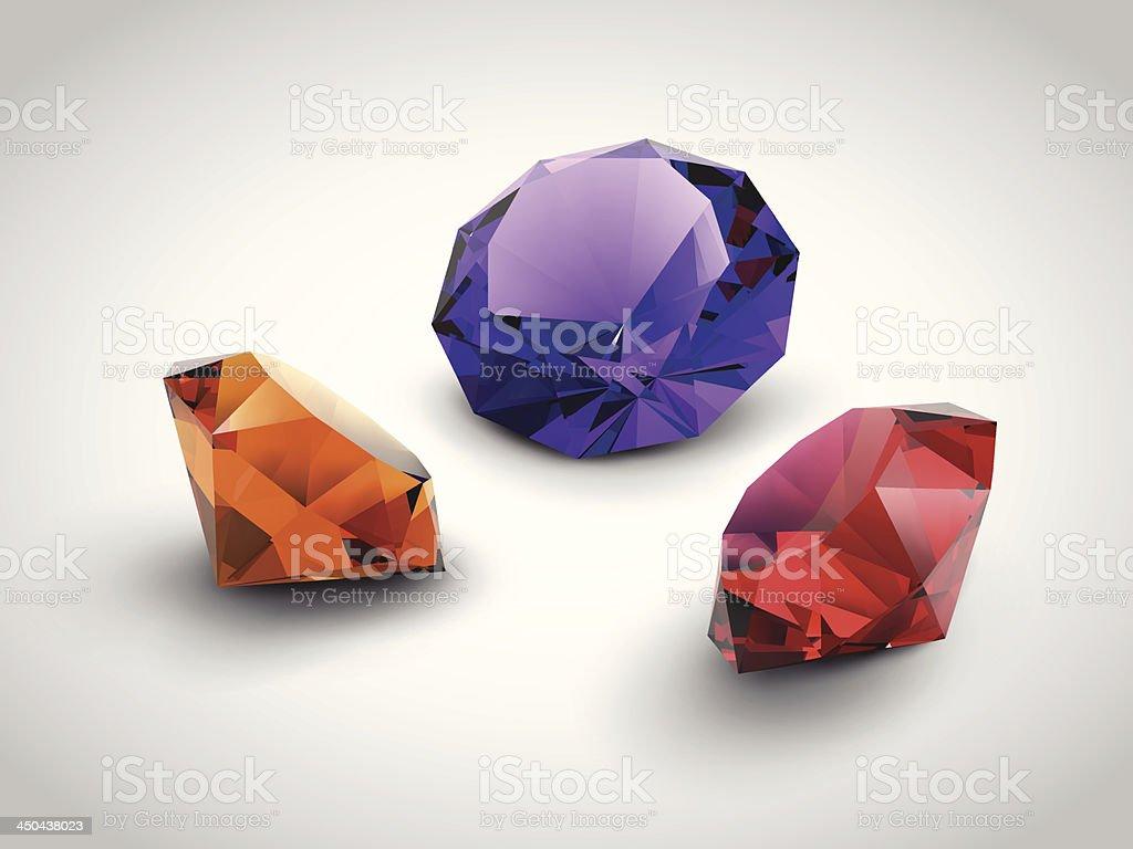 beautiful gems royalty-free stock vector art