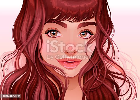 istock Beautiful girl looking at the viewer 1087465138