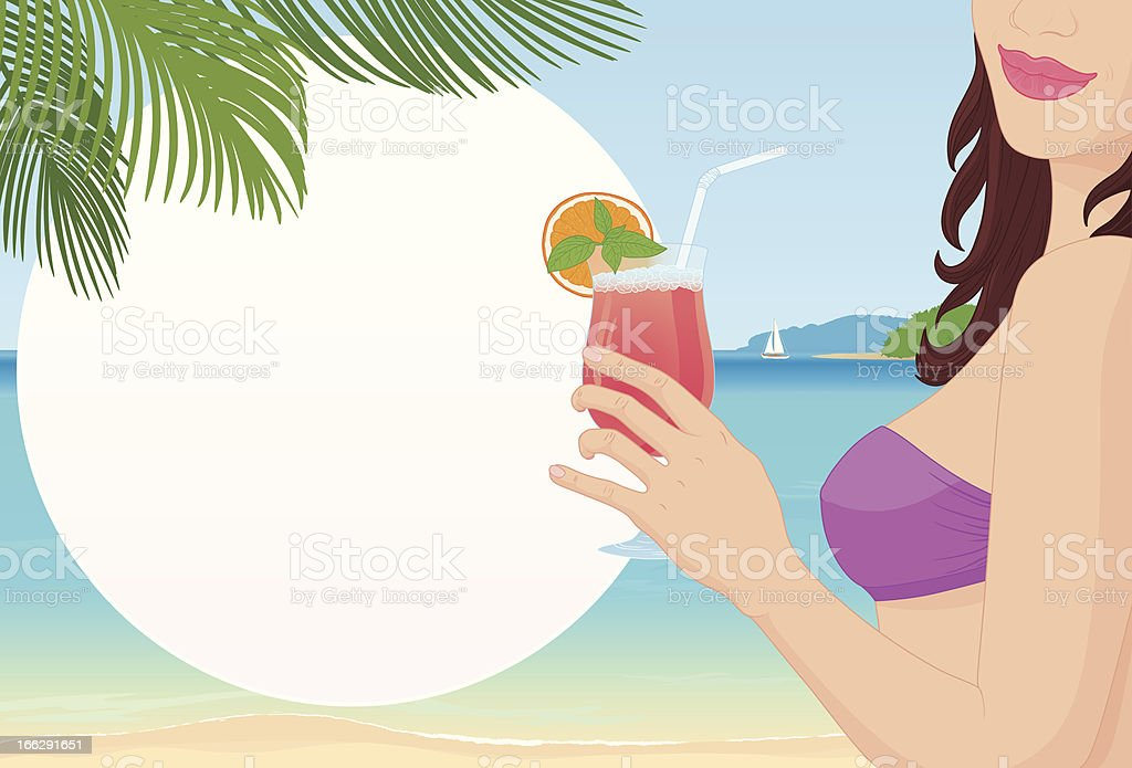 Beautiful girl on a background of ocean royalty-free beautiful girl on a background of ocean stock vector art & more images of adult