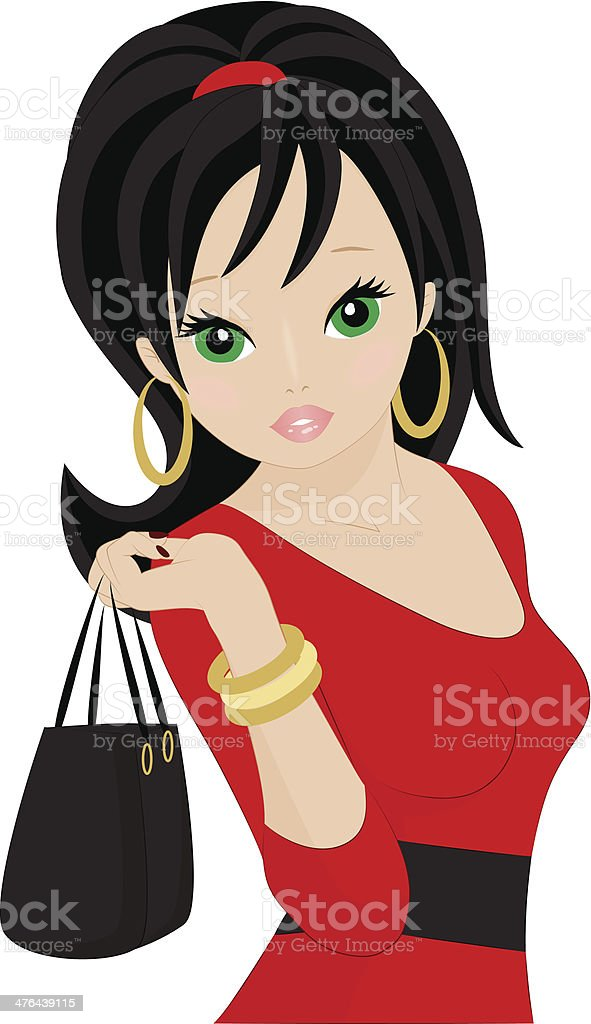Beautiful Girl royalty-free beautiful girl stock vector art & more images of adult