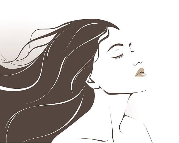 美しい女性 イラスト素材 Istock