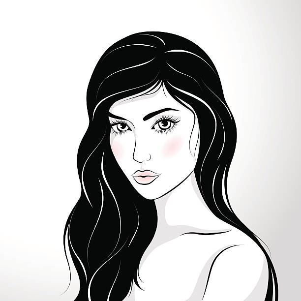 Best Beautiful Woman Illustrations, Royalty-Free Vector