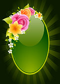 Beautiful Glossy Floral Frame