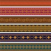 Beautiful gold sari shawl with bright colors