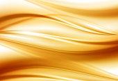 Beautiful Gold Satin. Drapery Background. Vector Illustration