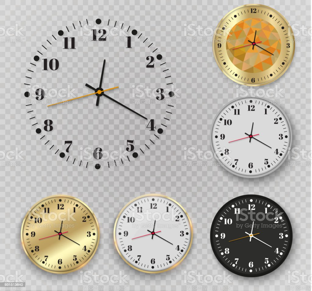 Beautiful Gold Wall Clock With Golden Edging Design A Large Template ...