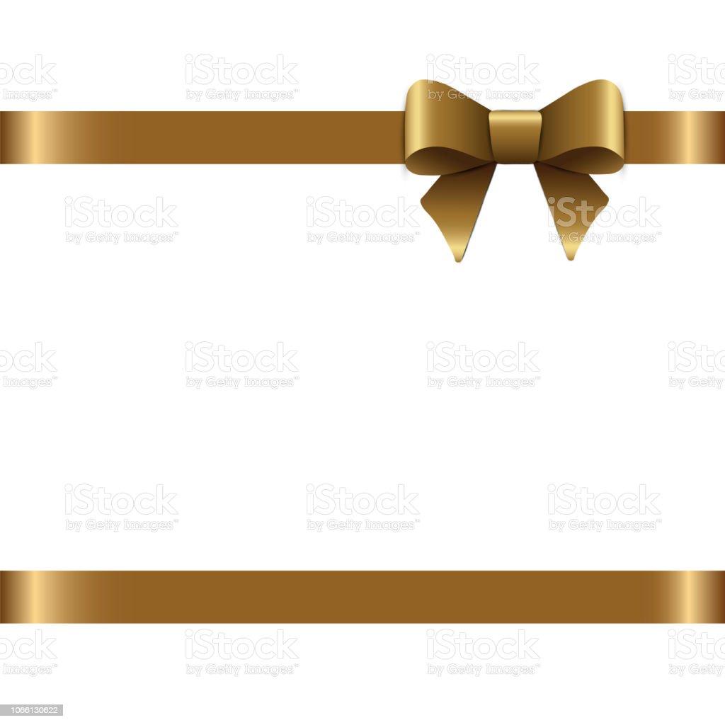 Schöne Goldene Schleife Für Geschenk Dekor Urlaub Dekoration
